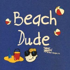 Beach Dude long sleeve royal tee, NWT